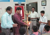 Shri. Gireesh Puliyoor, poet and children's writer inaugurating the Reader's Club 2011-'12