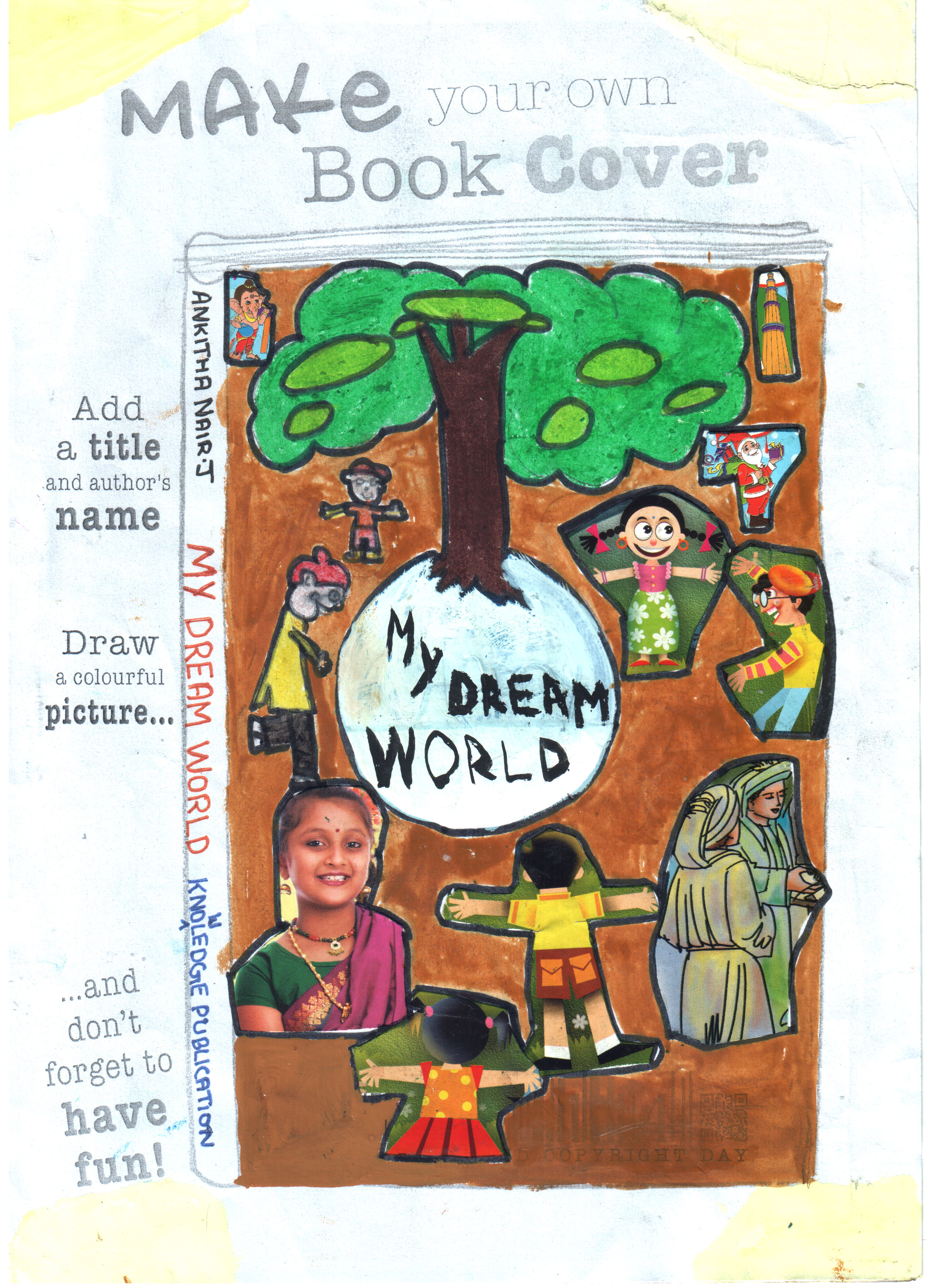 Book Cover Competition : Unesco kids book cover competition school level