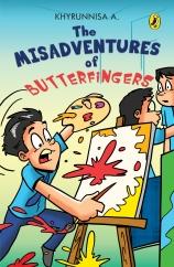 jacket of misadventures of butterfingers