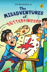 jacket of misadventures of butterfingers